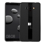 Anti-slip Leather + TPU Protective Case for Huawei Mate 10(Black)