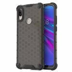 Honeycomb Shockproof PC + TPU Case for Huawei Y6(2019)(Black)