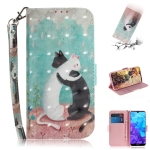 3D Colored Drawing Cats Pattern Horizontal Flip Leather Case for Huawei Y5 (2019) / Honor 8s, with Holder & Card Slots & Wallet
