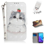 3D Colored Drawing Cute Cat Pattern Horizontal Flip Leather Case for Huawei Y5 (2019) / Honor 8s, with Holder & Card Slots & Wallet