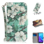 3D Colored Drawing Watercolor Flower Pattern Horizontal Flip Leather Case for Huawei Y5 (2019) / Honor 8s, with Holder & Card Slots & Wallet
