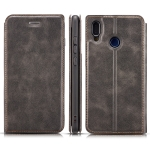 Retro Simple Ultra-thin Magnetic Horizontal Flip Leather Case for Huawei P20 Lite / Nova 3e, with Holder & Card Slots & Lanyard (Black)