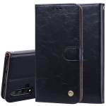 Business Style Oil Wax Texture Horizontal Flip Leather Case for Huawei Honor 20, with Holder & Card Slots & Wallet (Black)