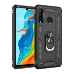 Armor Shockproof TPU + PC Protective Case for Huawei P30 Lite, with 360 Degree Rotation Holder (Black)