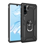 Armor Shockproof TPU + PC Protective Case for Huawei P30 Pro, with 360 Degree Rotation Holder (Black)