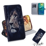 Lion Pattern Coloured Drawing Horizontal Flip Leather Case for Huawei Mate 20, with Holder & Card Slots & Wallet