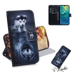 Wolf and Dog Pattern Coloured Drawing Horizontal Flip Leather Case for Huawei Mate 20, with Holder & Card Slots & Wallet