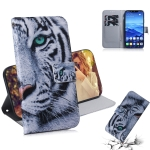 Tiger Pattern Coloured Drawing Horizontal Flip Leather Case for Huawei Mate 20 Lite, with Holder & Card Slots & Wallet