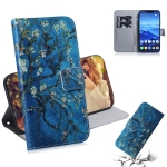 Apricot Flower Pattern Coloured Drawing Horizontal Flip Leather Case for Huawei Mate 20 Lite, with Holder & Card Slots & Wallet