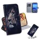 Lion Pattern Coloured Drawing Horizontal Flip Leather Case for Huawei Mate 20 Lite, with Holder & Card Slots & Wallet