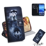 Wolf and Dog Pattern Coloured Drawing Horizontal Flip Leather Case for Huawei Mate 20 Lite, with Holder & Card Slots & Wallet