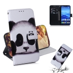 Panda Pattern Coloured Drawing Horizontal Flip Leather Case for Huawei Mate 20 Lite, with Holder & Card Slots & Wallet