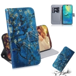 Apricot Flower Pattern Coloured Drawing Horizontal Flip Leather Case for Huawei Mate 20 X, with Holder & Card Slots & Wallet