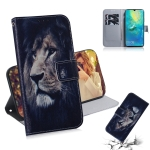 Lion Pattern Coloured Drawing Horizontal Flip Leather Case for Huawei Mate 20 X, with Holder & Card Slots & Wallet