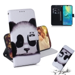 Panda Pattern Coloured Drawing Horizontal Flip Leather Case for Huawei Mate 20 X, with Holder & Card Slots & Wallet