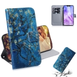 Apricot Flower Pattern Coloured Drawing Horizontal Flip Leather Case for Huawei Nova 3, with Holder & Card Slots & Wallet