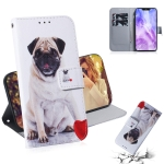 Pug Pattern Coloured Drawing Horizontal Flip Leather Case for Huawei Nova 3, with Holder & Card Slots & Wallet