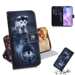 Wolf and Dog Pattern Coloured Drawing Horizontal Flip Leather Case for Huawei Nova 3, with Holder & Card Slots & Wallet