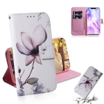 Magnolia Flower Pattern Coloured Drawing Horizontal Flip Leather Case for Huawei Nova 3, with Holder & Card Slots & Wallet