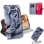 Tiger Pattern Coloured Drawing Horizontal Flip Leather Case for Huawei Nova 4, with Holder & Card Slots & Wallet