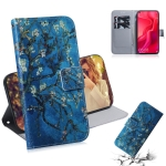 Apricot Flower Pattern Coloured Drawing Horizontal Flip Leather Case for Huawei Nova 4, with Holder & Card Slots & Wallet