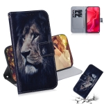Lion Pattern Coloured Drawing Horizontal Flip Leather Case for Huawei Nova 4, with Holder & Card Slots & Wallet