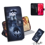 Wolf and Dog Pattern Coloured Drawing Horizontal Flip Leather Case for Huawei Nova 4, with Holder & Card Slots & Wallet