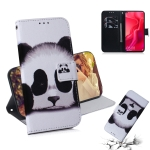 Panda Pattern Coloured Drawing Horizontal Flip Leather Case for Huawei Nova 4, with Holder & Card Slots & Wallet