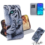 Tiger Pattern Coloured Drawing Horizontal Flip Leather Case for Huawei P Smart (2019) / Honor 10 Lite, with Holder & Card Slots & Wallet