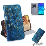 Apricot Flower Pattern Coloured Drawing Horizontal Flip Leather Case for Huawei P Smart (2019) / Honor 10 Lite, with Holder & Card Slots & Wallet