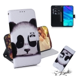 Panda Pattern Coloured Drawing Horizontal Flip Leather Case for Huawei P Smart (2019) / Honor 10 Lite, with Holder & Card Slots & Wallet