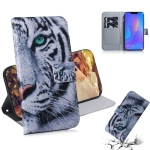 Tiger Pattern Coloured Drawing Horizontal Flip Leather Case for Huawei P Smart+ 2019 / Nova 3i, with Holder & Card Slots & Wallet
