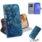 Apricot Flower Pattern Coloured Drawing Horizontal Flip Leather Case for Huawei P Smart+ 2019 / Nova 3i, with Holder & Card Slots & Wallet
