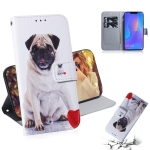 Pug Pattern Coloured Drawing Horizontal Flip Leather Case for Huawei P Smart+ 2019 / Nova 3i, with Holder & Card Slots & Wallet