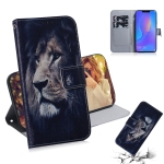 Lion Pattern Coloured Drawing Horizontal Flip Leather Case for Huawei P Smart+ 2019 / Nova 3i, with Holder & Card Slots & Wallet