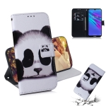 Panda Pattern Coloured Drawing Horizontal Flip Leather Case for Huawei Y6 (2019), with Holder & Card Slots & Wallet