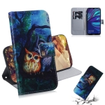 Oil Painting Owl Pattern Coloured Drawing Horizontal Flip Leather Case for Huawei Y7 Prime (2019) / Y7 Pro (2019) / Enjoy 9, with Holder & Card Slots & Wallet