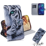 Tiger Pattern Coloured Drawing Horizontal Flip Leather Case for Huawei Y7 Prime (2019) / Y7 Pro (2019) / Enjoy 9, with Holder & Card Slots & Wallet