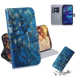 Apricot Flower Pattern Coloured Drawing Horizontal Flip Leather Case for Huawei Y7 Prime (2019) / Y7 Pro (2019) / Enjoy 9, with Holder & Card Slots & Wallet
