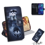 Wolf and Dog Pattern Coloured Drawing Horizontal Flip Leather Case for Huawei Y7 Prime (2019) / Y7 Pro (2019) / Enjoy 9, with Holder & Card Slots & Wallet