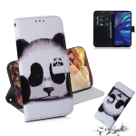Panda Pattern Coloured Drawing Horizontal Flip Leather Case for Huawei Y7 Prime (2019) / Y7 Pro (2019) / Enjoy 9, with Holder & Card Slots & Wallet