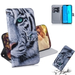 Tiger Pattern Coloured Drawing Horizontal Flip Leather Case for Huawei Y9 (2019) / Enjoy 9 Plus, with Holder & Card Slots & Wallet