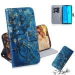 Apricot Flower Pattern Coloured Drawing Horizontal Flip Leather Case for Huawei Y9 (2019) / Enjoy 9 Plus, with Holder & Card Slots & Wallet