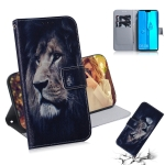 Lion Pattern Coloured Drawing Horizontal Flip Leather Case for Huawei Y9 (2019) / Enjoy 9 Plus, with Holder & Card Slots & Wallet