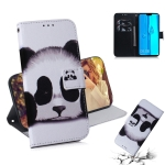Panda Pattern Coloured Drawing Horizontal Flip Leather Case for Huawei Y9 (2019) / Enjoy 9 Plus, with Holder & Card Slots & Wallet