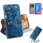 Apricot Flower Pattern Coloured Drawing Horizontal Flip Leather Case for Huawei Honor 8C, with Holder & Card Slots & Wallet