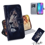 Lion Pattern Coloured Drawing Horizontal Flip Leather Case for Huawei Honor 8C, with Holder & Card Slots & Wallet