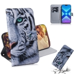 Tiger Pattern Coloured Drawing Horizontal Flip Leather Case for Huawei Honor 8X, with Holder & Card Slots & Wallet