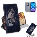 Lion Pattern Coloured Drawing Horizontal Flip Leather Case for Huawei Honor 8X, with Holder & Card Slots & Wallet