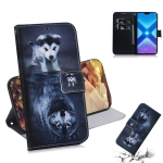 Wolf and Dog Pattern Coloured Drawing Horizontal Flip Leather Case for Huawei Honor 8X, with Holder & Card Slots & Wallet